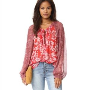 Free People Hendrix floral blouse